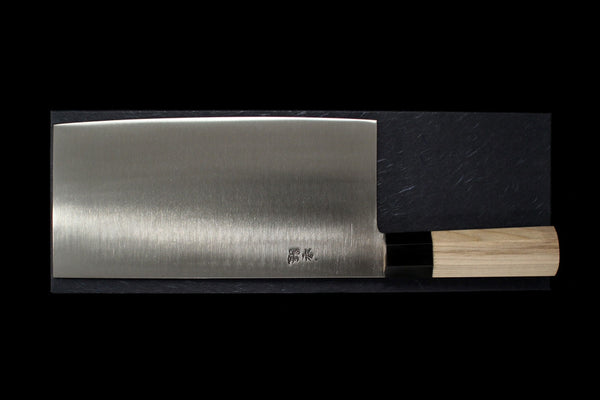 Gesshin Ginga #6 Stainless Chinese Cleaver (Wa-Handle)