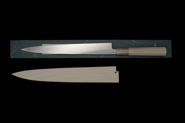 Gesshin Uraku 270mm White #2 Left-Handed Yanagiba