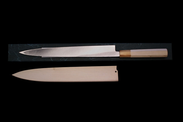 Gesshin Uraku 300mm White #2 Left-Handed Yanagiba