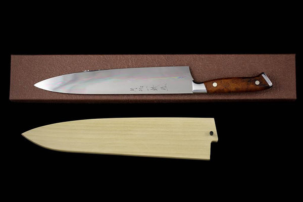 Gesshin Ittetsu 270mm White #2 Honyaki Gyuto with Desert Ironwood Handle