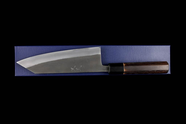 Kochi 180mm Kurouchi Stainless Clad Carbon Kiritsuke Shaped Wa-Santoku