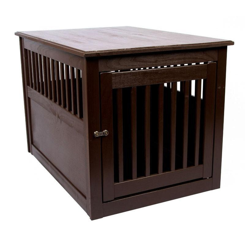 Amish Handcrafted Fortress End Table Pet Crates Pet