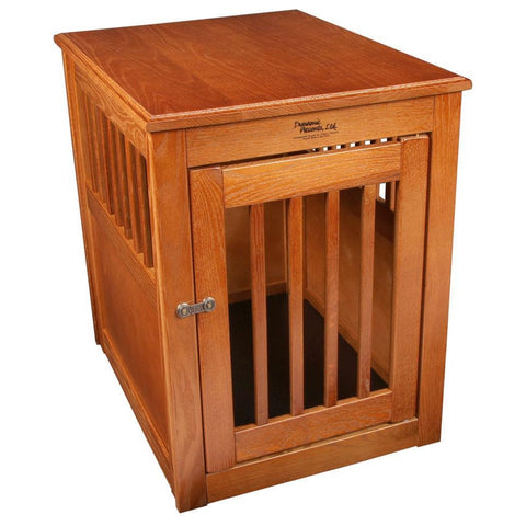 Amish Handcrafted Fortress End Table Pet Crates-Crate-Dynamic Accents-36 L x 24 W x 27 H-Artisan Bronze-Pet Crates Direct