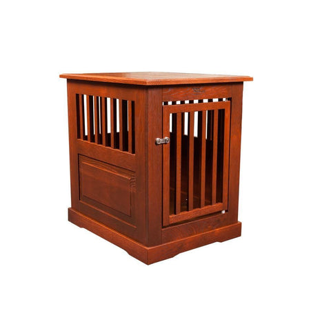 Amish Handcrafted Fortress Oak End Table Pet Crates-Crate-Dynamic Accents-24 L x 18 W x 27 H-Mahogany-Pet Crates Direct
