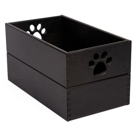 Amish Handcrafted Pet Toy Box-Accessories-Dynamic Accents-Large-Black-Pet Crates Direct