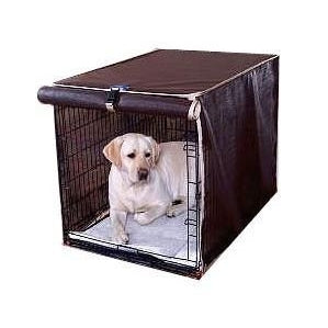 Canine Sunscreen Dog Crate Cover-Accessories-Royal Cabana-xsmall - fits crate 22 L x 14 W x 16 H-chocolate-Pet Crates Direct