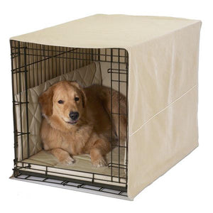 "Casual Cratewear Dog Crate Cover-Accessories-Pet Dreams-fits 24"" long crate-khaki-Pet Crates Direct"