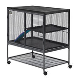 Critter Nation Small Animal Cage-Cage-Midwest-161 - single unit with stand-Pet Crates Direct