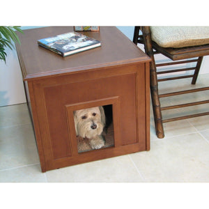 Crown Pet Doggie Den Cabinet/Indoor Doghouse-Crate-Crown Pet Products-Mahogany-Pet Crates Direct