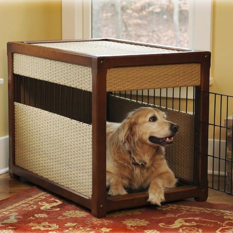 Deluxe Pet Residence Rhino Wicker Dog Crate-Crate-Mr. Herzhers-Pet Crates Direct