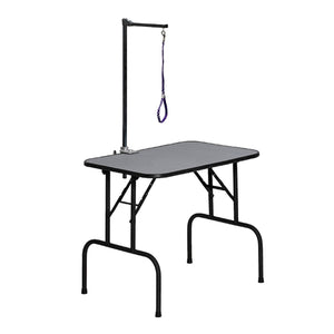Dog Grooming Table-Furniture-Midwest-G3018A - 30x18x32 grooming table with arm-Pet Crates Direct