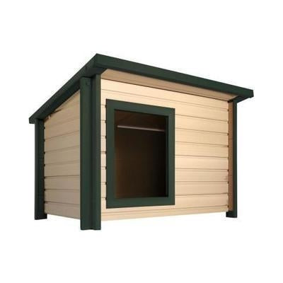 EcoConcepts Insulated Rustic Lodge Dog House-Furniture-New Age Pet-Pet Crates Direct