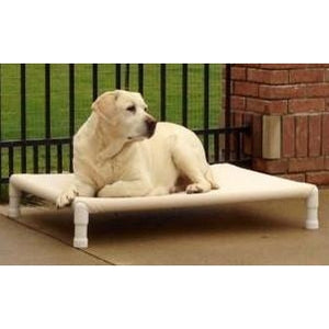 Elevated Dog Bed-Furniture-Royal Cabana-small - 24 L x 16 W x 7 H-seashell-Pet Crates Direct