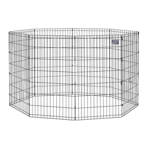 Exercise Pen without Door-Barriers-Midwest-8 panels - each 24 W x 24 H-Pet Crates Direct