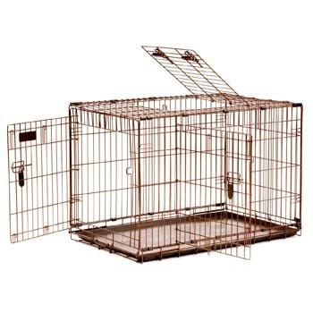 Great Crate Elite Copper Hammertone 3 Door-Crate-Precision-small - 24Lx18Wx20H-Pet Crates Direct