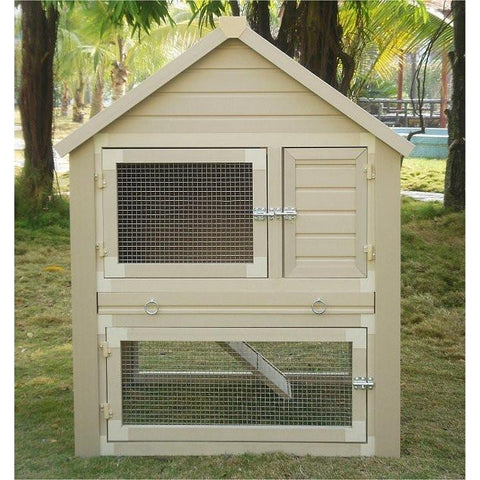 Huntington Townhouse Rabbit Hutches-Cage-New Age Pet-Pet Crates Direct