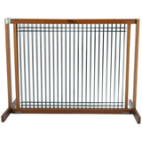 "Kensington Wood Slide Gates 30"" Tall-Barriers-Dynamic Accents-Large-Wood/Wire Artisan Bronze-Pet Crates Direct"