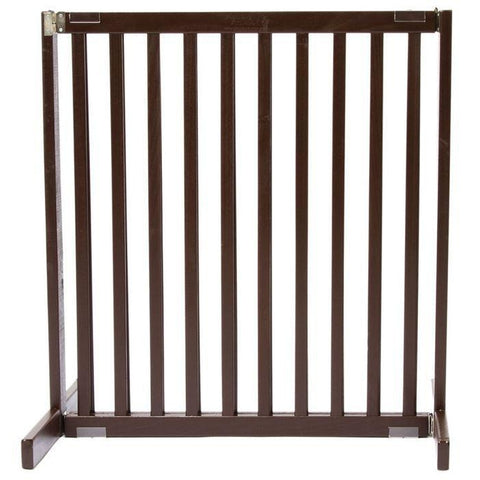 "Kensington Wood Slide Gates 30"" Tall-Barriers-Dynamic Accents-Small-Mahogany-Pet Crates Direct"