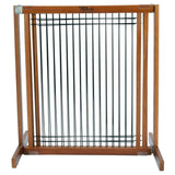 "Kensington Wood Slide Gates 30"" Tall-Barriers-Dynamic Accents-Small-Wood/Wire Artisan Bronze-Pet Crates Direct"