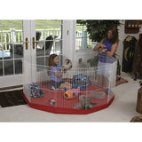 Marshall Ferret Play Pens with Red Mat Cover-Cage-Marshall-Pet Crates Direct