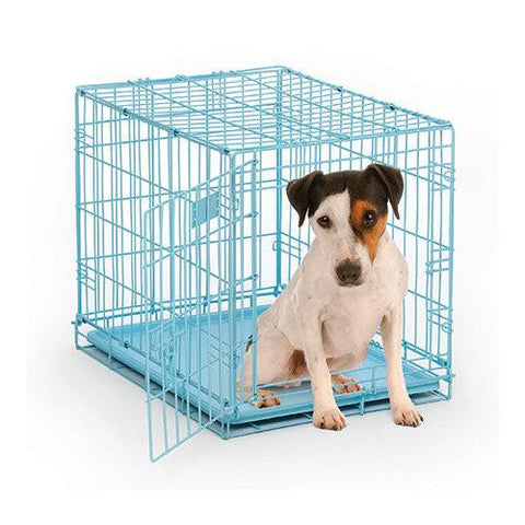 Midwest Fashion Puppy iCrate-Crate-Midwest-Hey Baby Blue-Pet Crates Direct