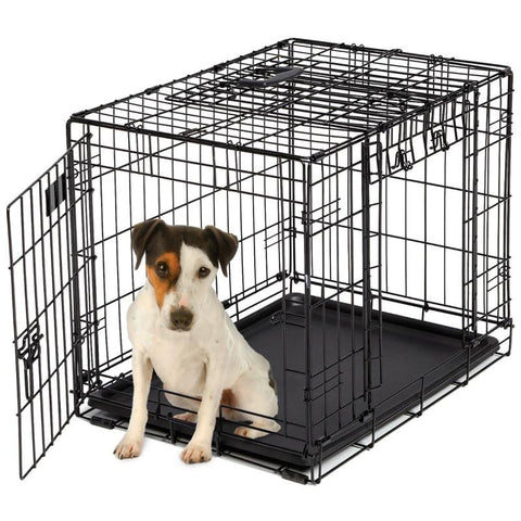 Ovation Trainer Double Door Dog Crate-Crate-Midwest-1924DD - 24.8 L x 18 W x 19.9 H-Pet Crates Direct