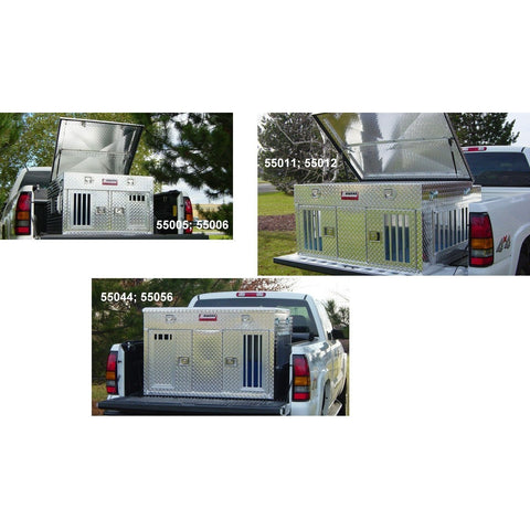 Owens Aluminum Dog Boxes for Trucks Hunter Series with Top Storage-Crate-Owens-Pet Crates Direct