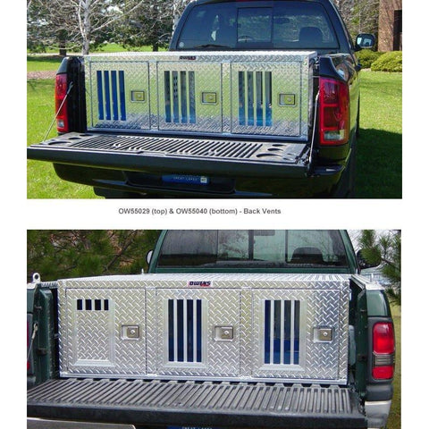 Owens Aluminum Dog Triple Boxes for Trucks - Hunter Series - No Storage-Crate-Owens-22 inch-Pet Crates Direct