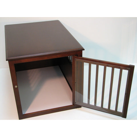 "Pet Crate Table-Crate-Crown Pet Products-21"" W x 29.7"" D x 24.2"" H-729440698177 - Espresso-Pet Crates Direct"