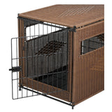 Pet Residence Rhino Wicker Dog Crate-Crate-Mr. Herzhers-Pet Crates Direct