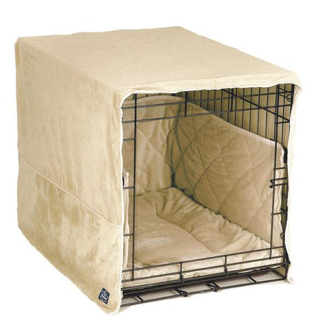 "Plush Cratewear Dog Crate Cover-Accessories-Pet Dreams-fits 19"" long crate-ivory-Pet Crates Direct"