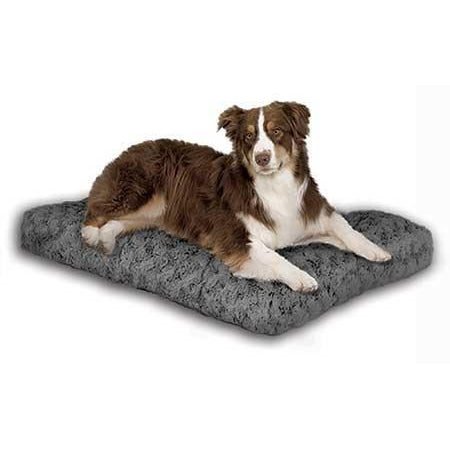 Quiet Time Deluxe Ombre Swirl Pet Bed-Furniture-Midwest-medium - 28 x 20-gray swirl-Pet Crates Direct