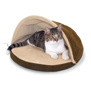 Thermo Hut Heated Cat Bed-Furniture-Lectro-Mocha-Pet Crates Direct