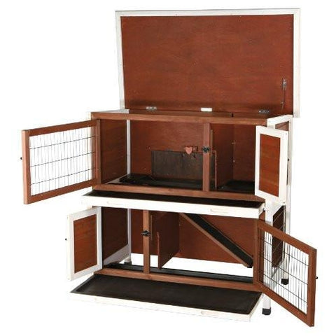 Trixie Two Story Rabbit Hutch Cage Trixie Pet Crates Direct