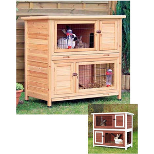 Trixie Two Story Rabbit Hutch-Cage-Trixie-Natural-Pet Crates Direct