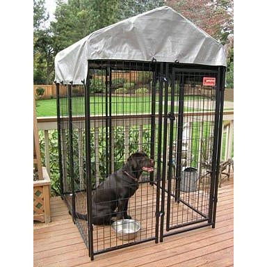 Uptown Patio, Modular Dog Kennels with Cover-Cage-Jewett Cameron-6'H x 4'W x 4'L (7 panels - 1 gate - includes Cover)-Pet Crates Direct