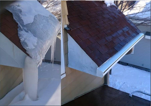 One hour of Ice Dam Removal using Low Pressure Steam