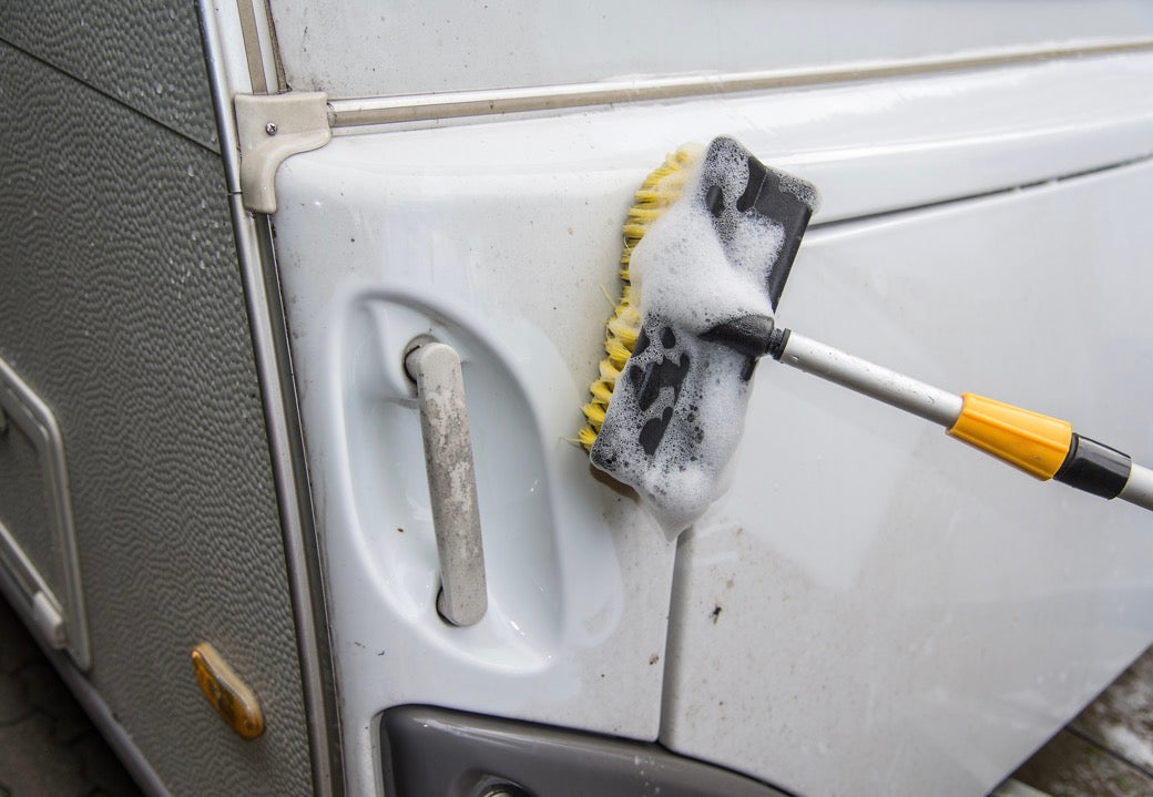 Washing the exterior of an RV for winterization