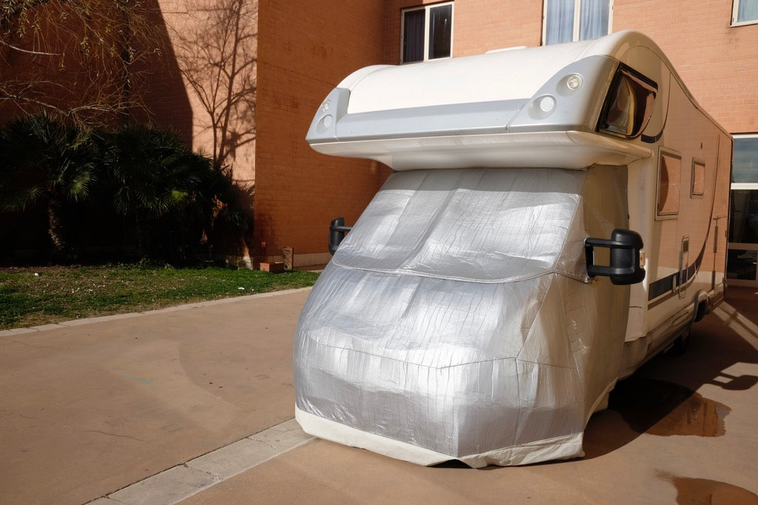 RV covered as part of winterization