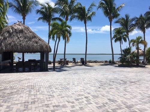 Custom site at Bluewater Key RV Resort. Image sourced from Bluewater Key.