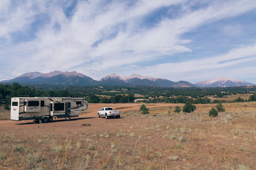 Our boondocking stay at Hendrick's Flat.