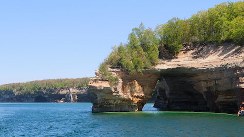 Lovers Leap Arch at Pictured Rocks National Lakeshore!