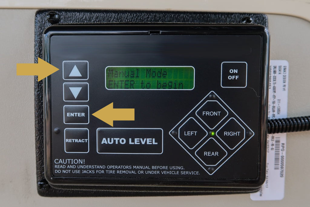 Entering manual mode with an LCI system