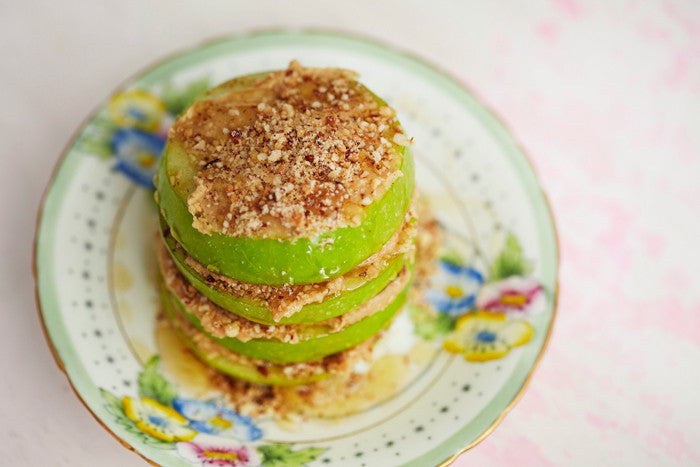Apple and Almond Butter Stack