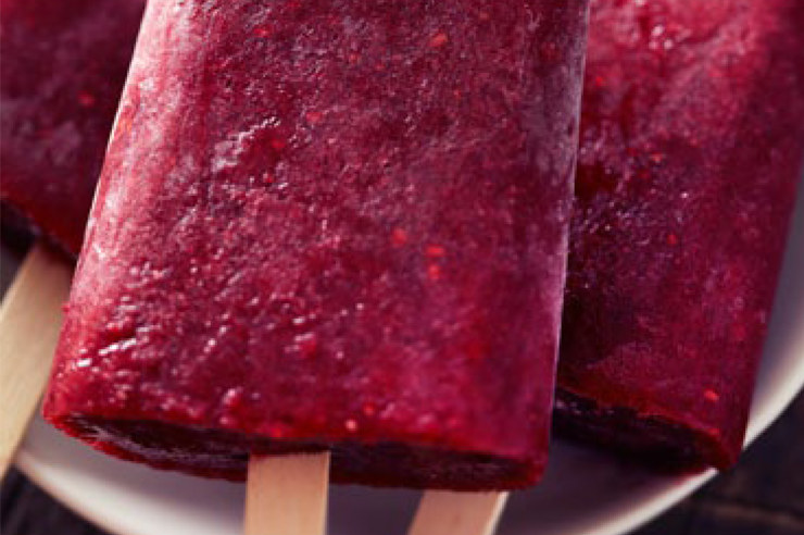 Berry Glow pops