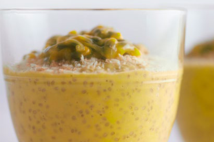 Chia mango coconut pudding