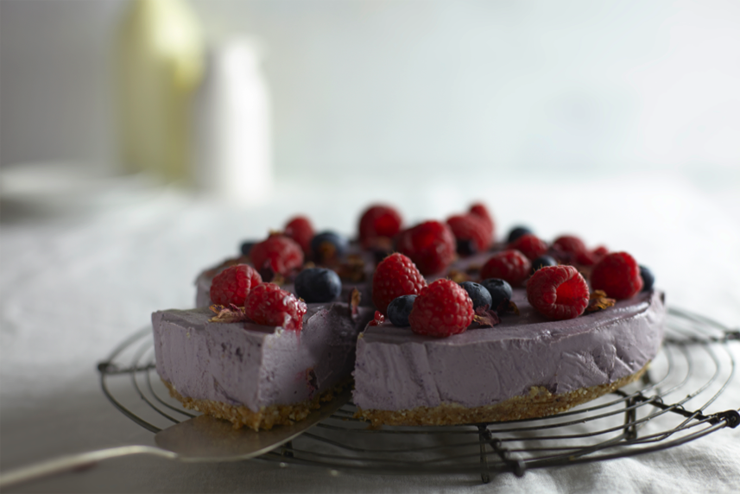 Lime, Coconut and Berry Cheesecake