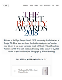 Vogue Beauty Awards 2018