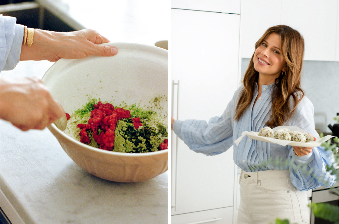 Carla Oates Makes Greens Powder Bliss Balls
