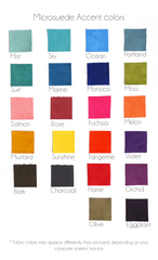 Microfiber fabric swatches bright and bold colors